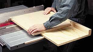 woodworking tip: crosscut sled for wide panels
